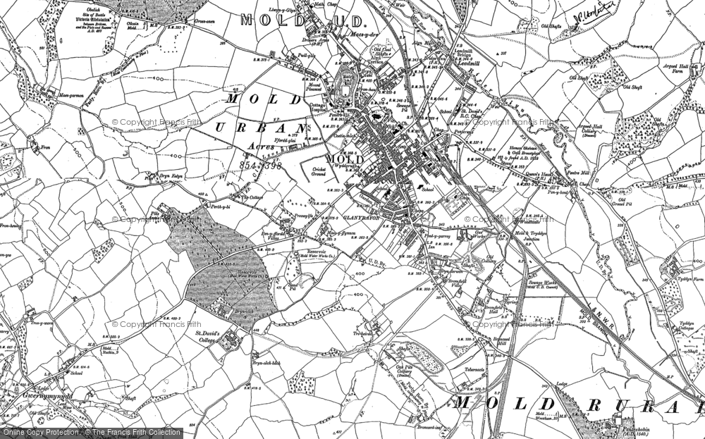 Map of Mold, 1910