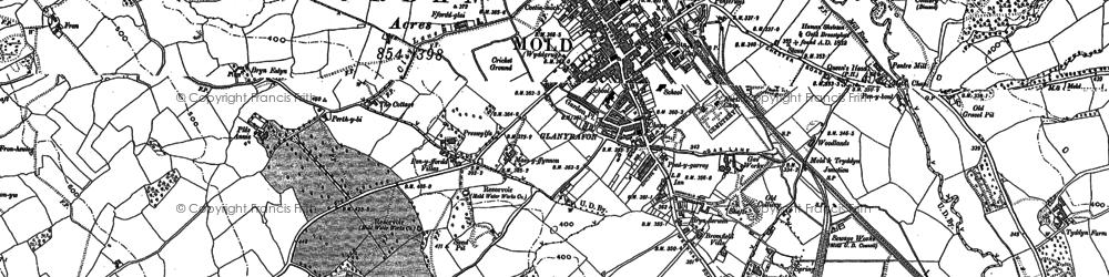 Old map of Mold in 1910