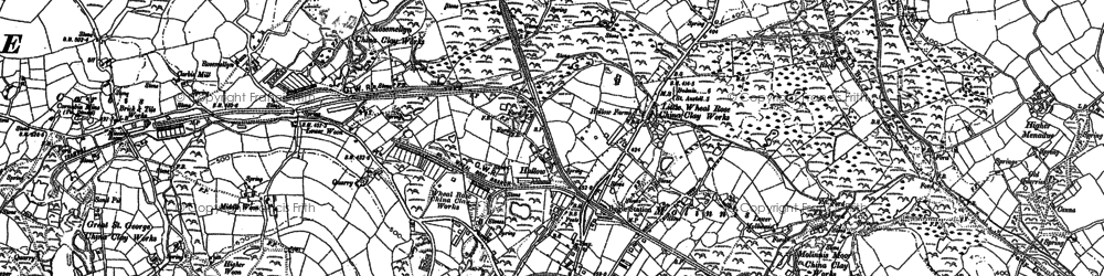 Old map of Molinnis in 1881