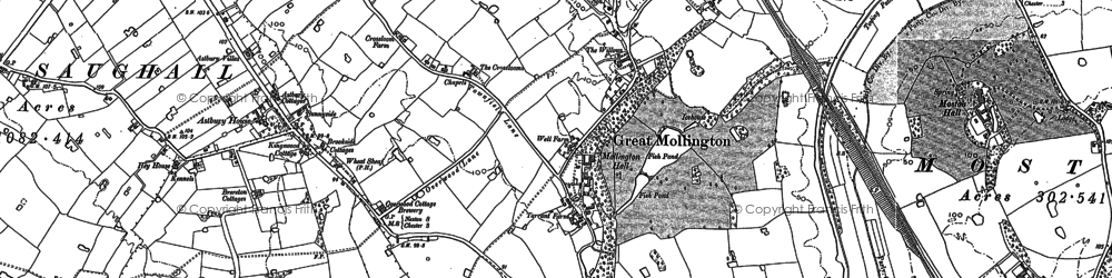 Old map of Astbury Ho in 1898