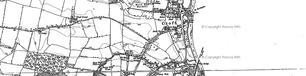 Old map of Croft-on-Tees in 1892