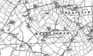 Old Map of Monk Soham, 1884