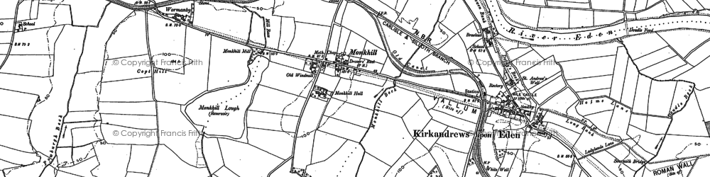 Old map of Wormanby in 1899