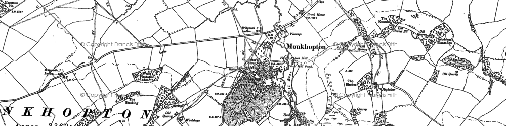 Old map of Woolshope in 1882