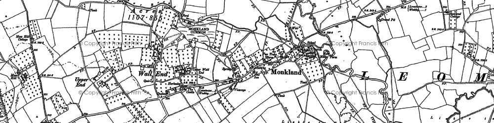 Old map of Monkland in 1885