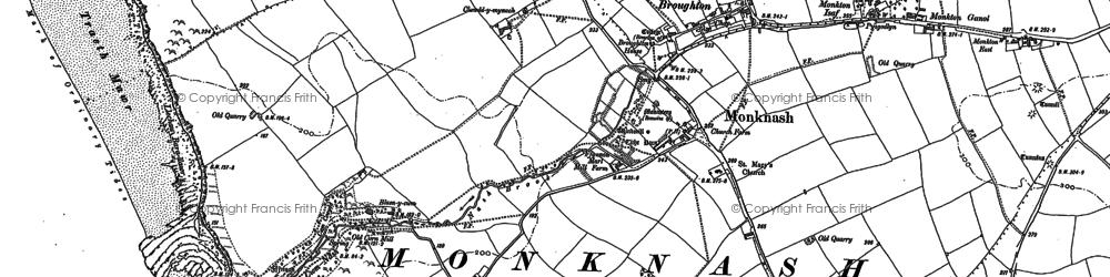 Old map of Monknash in 1897
