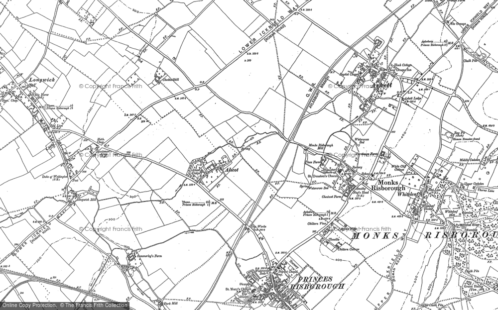 Old Map of Historic Map covering Alscot in 1897