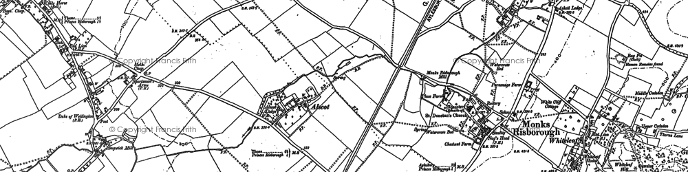 Old map of Monks Risborough in 1897