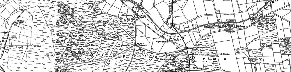 Old map of Monkscross in 1905