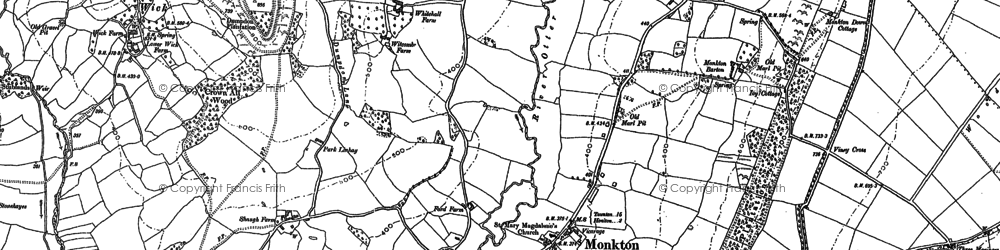 Old map of Langford Br in 1887
