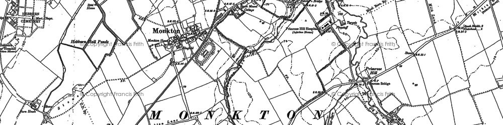 Old map of Monkton in 1895