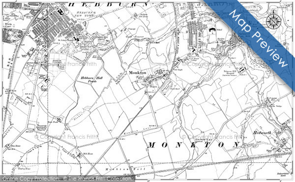 Old Map of Historic Map covering Adamton Ho in 1895