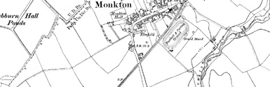 Old map of Adamton Mains centred on your home