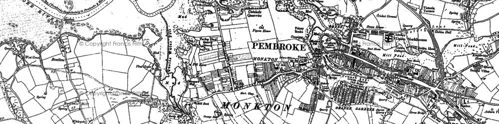 Old map of Monkton in 1906