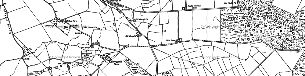Old map of West Tisted Common in 1895