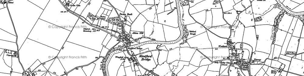 Old map of Forton in 1881
