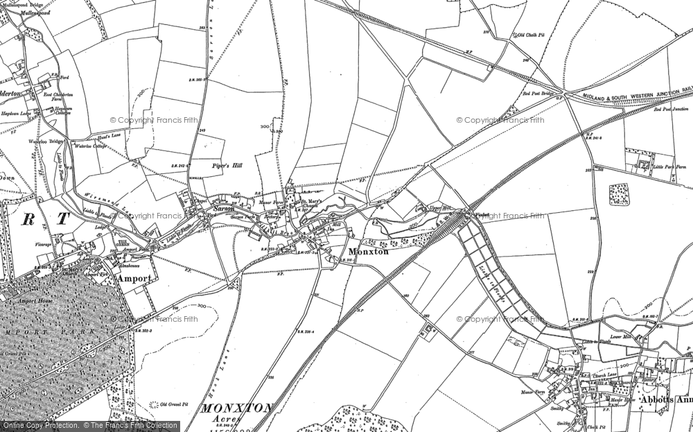 Old Map of Monxton, 1894 in 1894