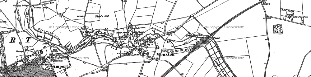 Old map of Monxton in 1894