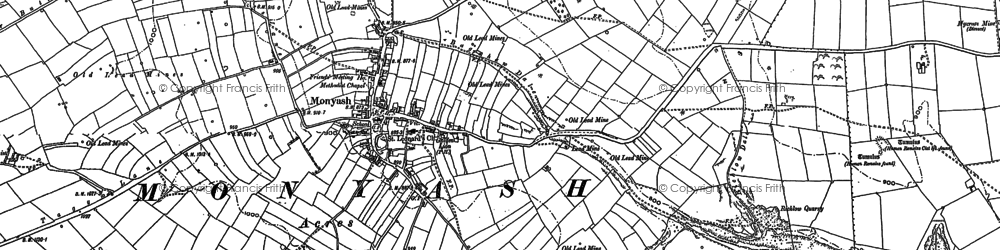 Old map of Monyash in 1878
