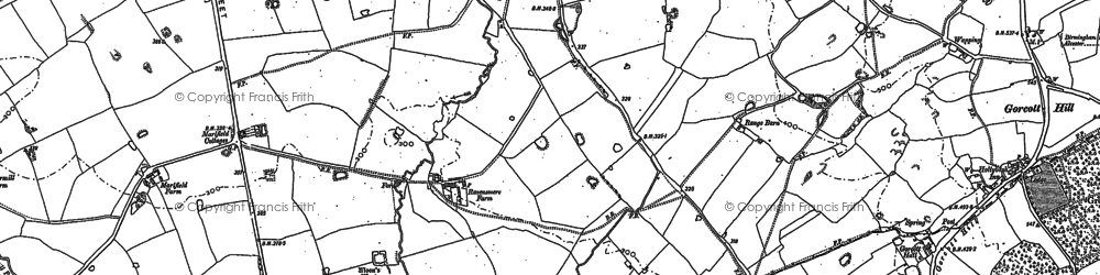 Old map of Winyates in 1903