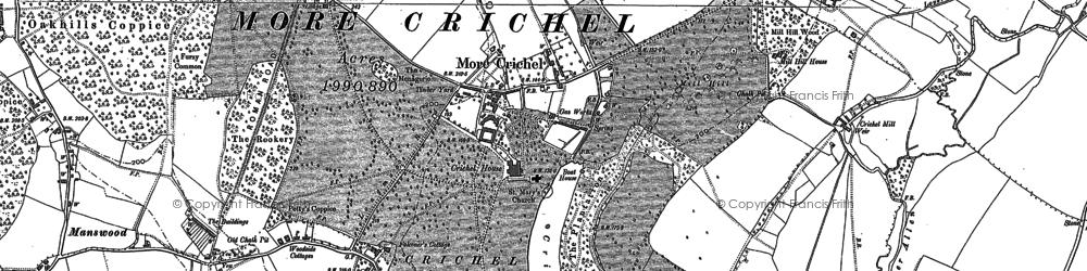 Old map of Crichel Ho in 1886