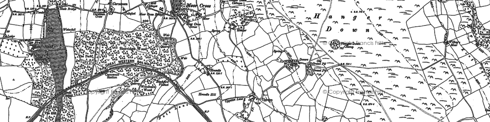 Old map of Whingreen in 1886