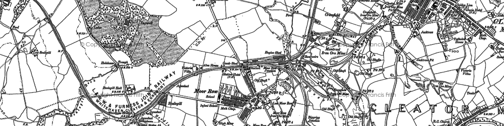 Old map of Westlakes Science Park in 1923