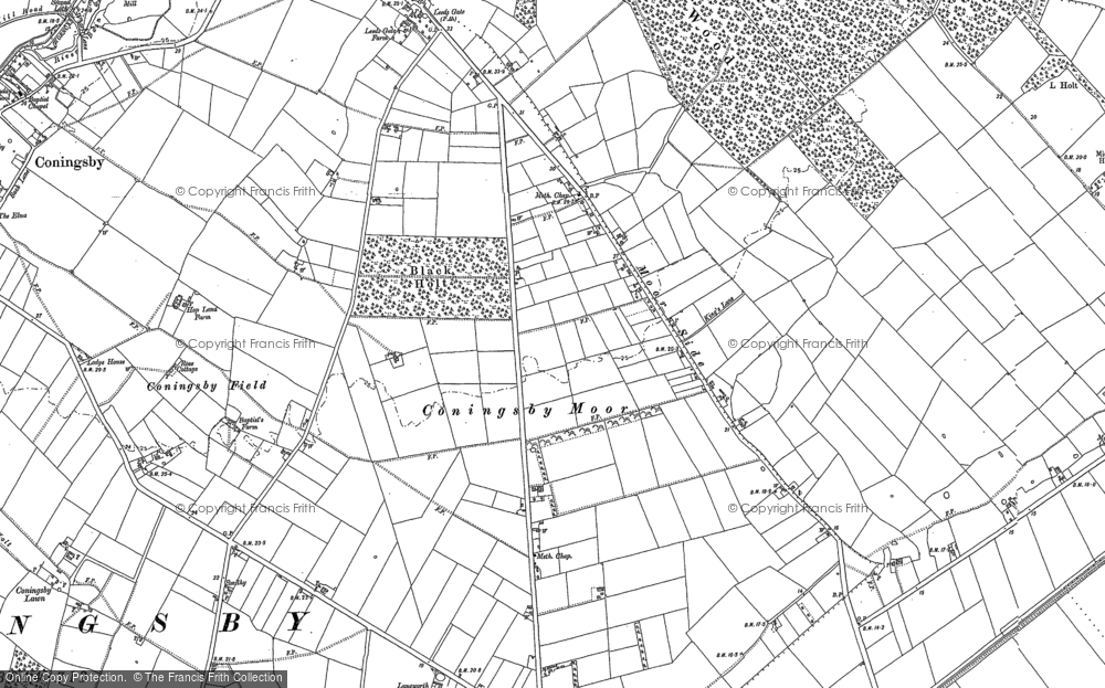 Old Map of Moor Side, 1887 - 1888 in 1887