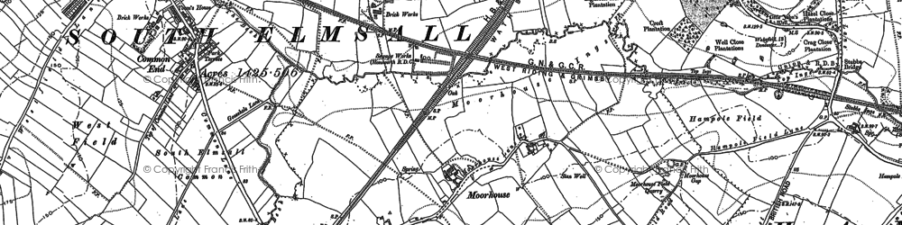 Old map of Moorhouse in 1891