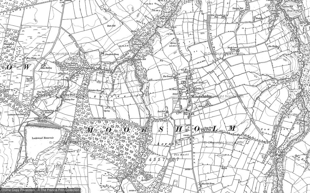Old Map of Moorsholm, 1893 in 1893