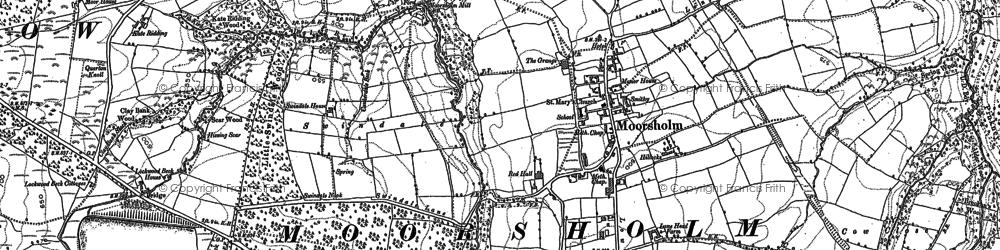 Old map of Moorsholm in 1893