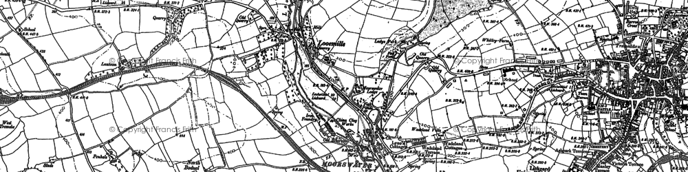 Old map of Boduel in 1881