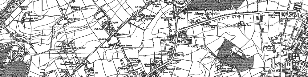Old map of Alwoodley Gates in 1890