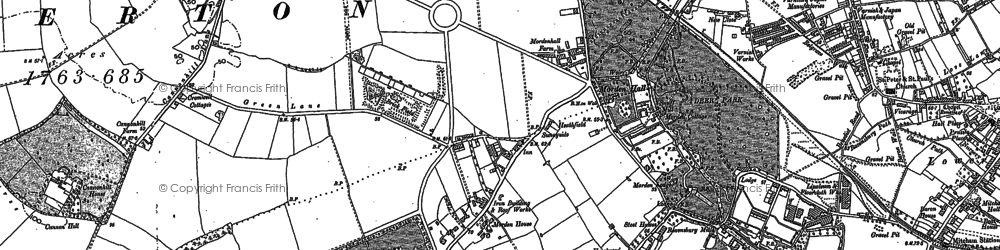 Old map of Morden in 1894
