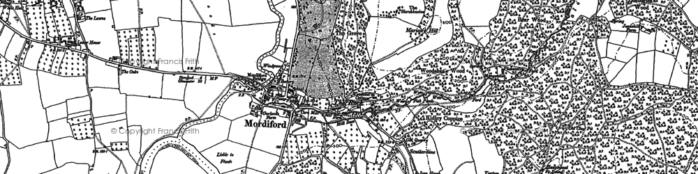 Old map of Bagpiper's Tump in 1886
