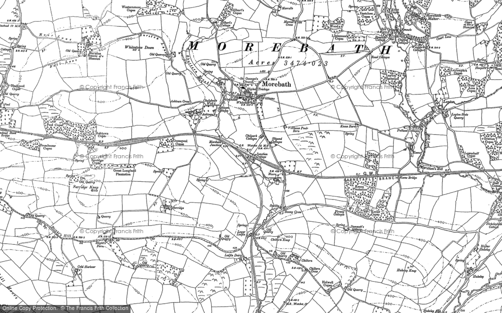 Old Map of Historic Map covering Timewell in 1902