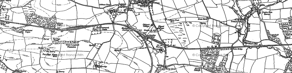 Old map of Timewell in 1902