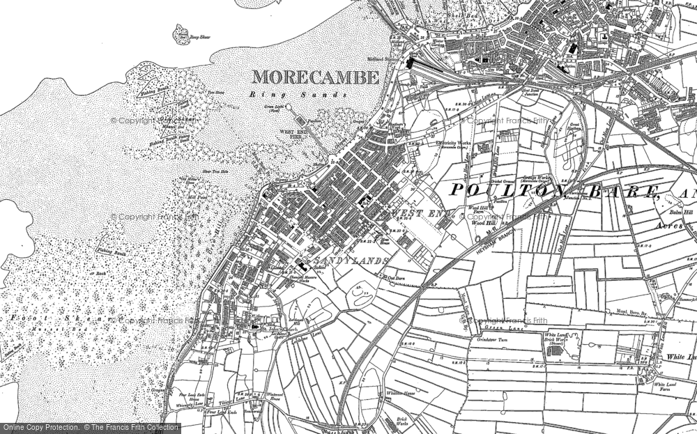 Old Map of Morecambe, 1910 - 1931 in 1910 - 1931