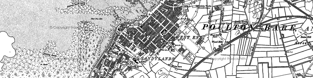 Old map of Whittam Ho in 1910