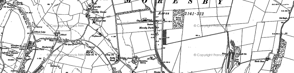 Old map of Abbey Flatts in 1923