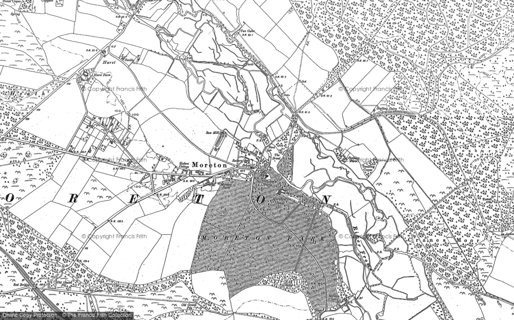 Map of Moreton, 1886