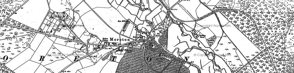 Old map of Moreton in 1886