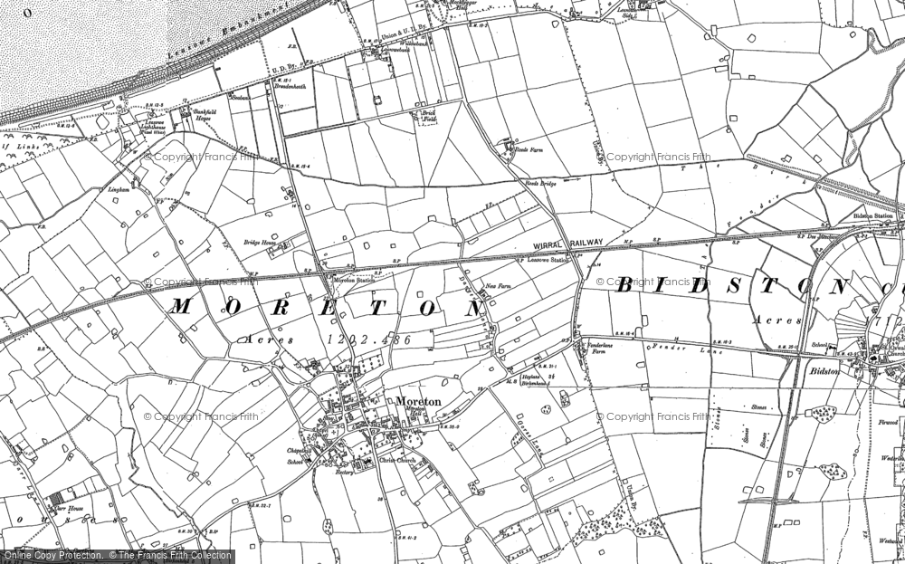 Old Map of Moreton, 1909 in 1909