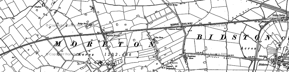 Old map of Moreton in 1909