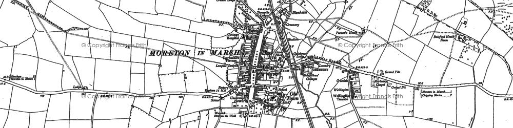 Old map of Moreton-in-Marsh in 1898