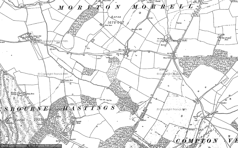 Old Map of Moreton Paddox, 1885 in 1885