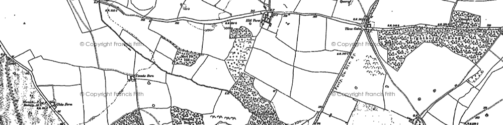 Old map of Moreton Paddox in 1885