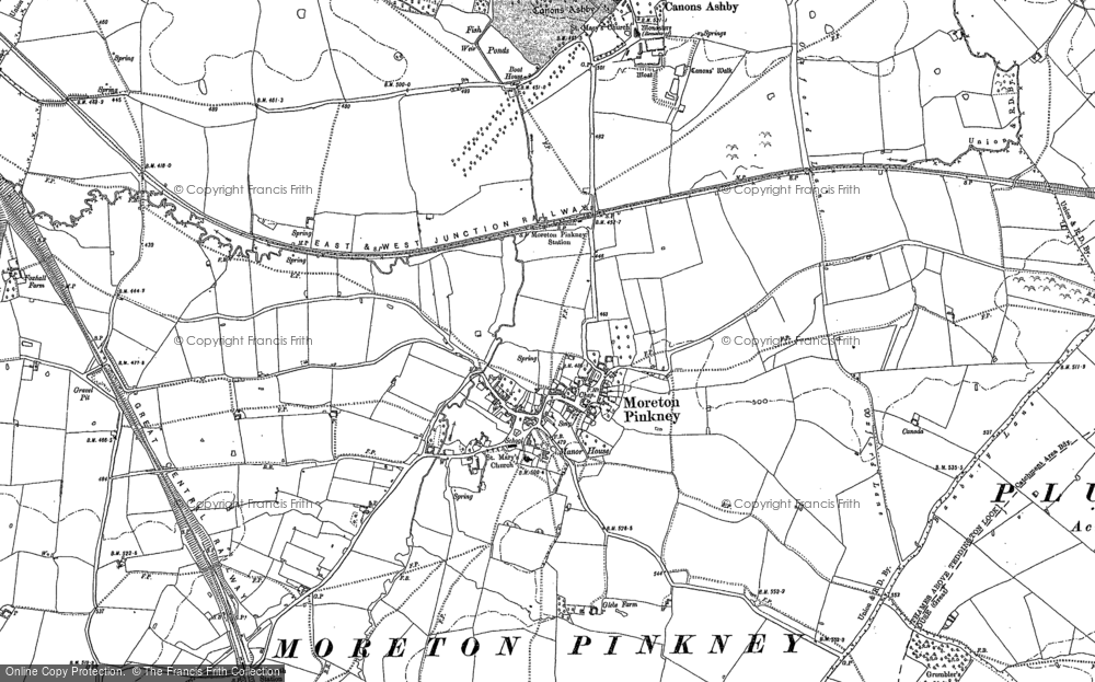 Old Map of Historic Map covering Badbury Lane in 1883