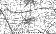 Old Map of Moreton Pinkney, 1883