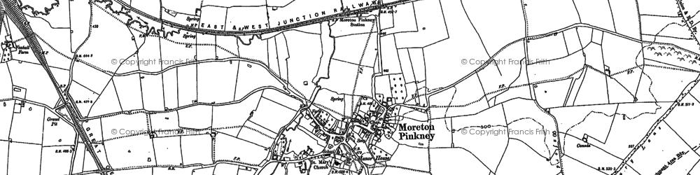 Old map of Badbury Lane in 1883